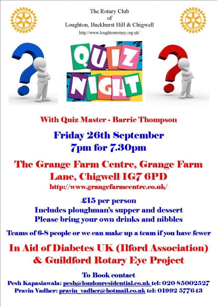 Quiz Night 26-9-14